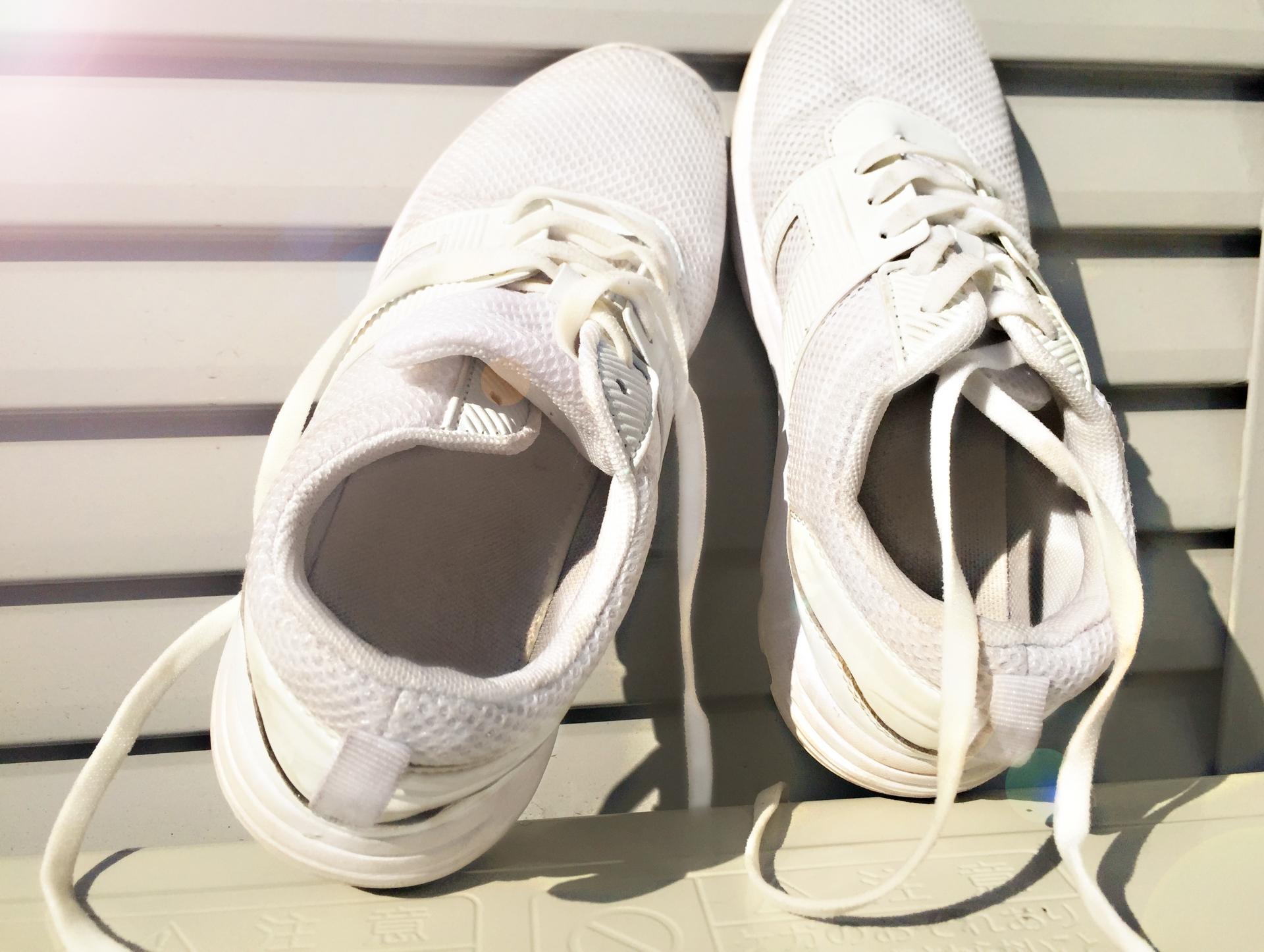 泥汚れの付いた靴を乾かし、手で汚れを叩き落としたら乾いた靴用のブラシなどで再度汚れを落としてから浸け置き洗いをします。